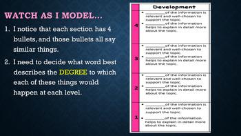 Kid-Friendly Informational/Explanatory Writing Rubric