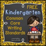 *FREE* Kindergarten Common Core Writing Standards