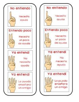 Kid Friendly Marzano Scale - Spanish