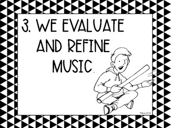 Kid-Friendly Music Standards (NAFME standards) Black and White Music Decor