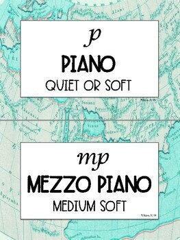 Music Word Wall | Music Bulletin Board Display | World Map/Travel Theme