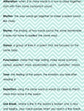 Kid Friendly Poetry Terms and Definitions Chevron