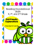 Kid Friendly Reading Foundation Cards