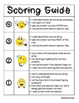 Kid Friendly Scoring Guide