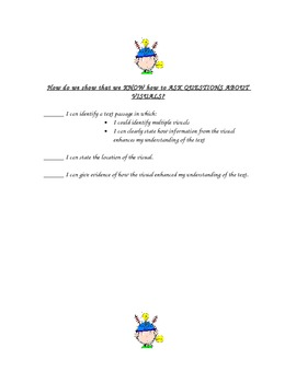 Kid Friendly Self Asssessment Checklists for Reading Skills