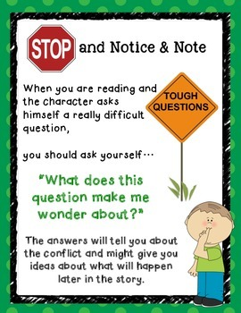 Kid Friendly Signposts Posters for Close Reading