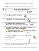 Kid Friendly Small Moment Checklist