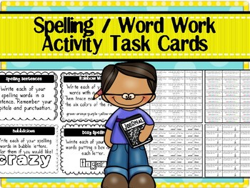 Spelling / Word Work Activity Task Cards