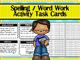 SPELLING CENTER ACTIVITIES (Task Card & Label Versions) for ANY Word List