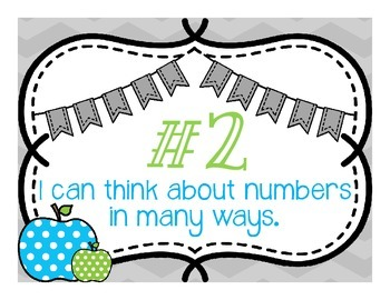 Kid Friendly Standards for Mathematical Practice Posters-Chevron