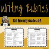 Kid Friendly Text-Based Writing Rubrics