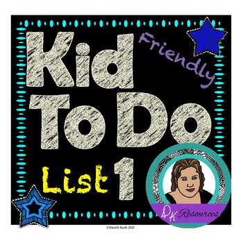 Kid Friendly To Do Lists to Help Kids Get Organized and Ge