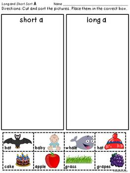 Vowel Posters and Sorts: Kid Friendly