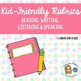 Kid-Friendly Rubrics for Reading, Writing, Speaking, Listening {WIDA informed}