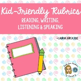 Kid-Friendly Rubrics for Reading, Writing, Speaking, Listening {WIDA informed}