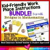 Kid Friendly Work Place Instructions BUNDLE : Bridges in M
