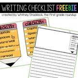 Kid Friendly Writing Checklist FREEBIE