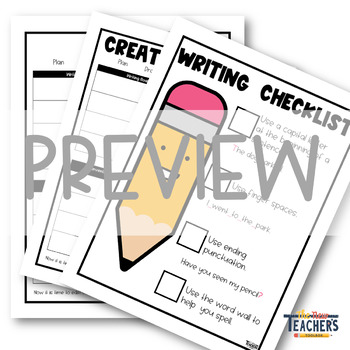 Kid-Friendly Writing Rubric Pack [Editable]
