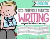 Kid-Friendly (STAAR) Writing Rubrics {English}