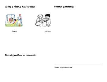 Kid Friendly behavior processing slip
