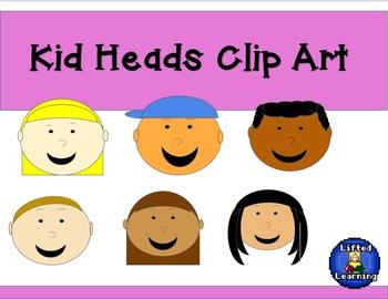 Clip Art - Kid Heads - FREE