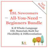 ESL/ELL Beginners Bundle 3-Pack