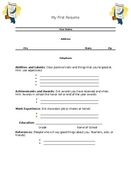 Kid Job Search/Resume