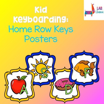 Kid Keyboarding: Home Row Letters Posters