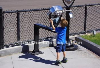 Kid Looking Through Binoculars Stock Photo #162