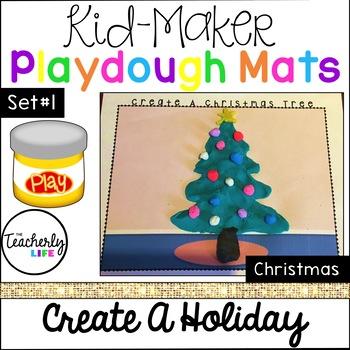 Kid-Maker Playdough Mats - Create A Holiday: Christmas