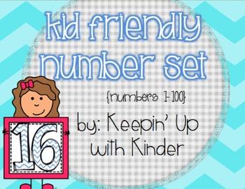 Kid Number Cards (0-100)