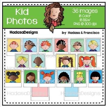 Kid Photos Clip Art Set