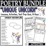 Kid Poetry Activities Worksheets Quiz Middle School Poems about Unicorns Bundle