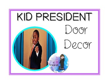 Kid President Inspirational Door Decor