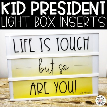 Kid President Light Box Inserts- Heidi Swapp or Leisure Arts