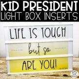 Kid President Light Box Inserts- Heidi Swapp or Leisure Arts