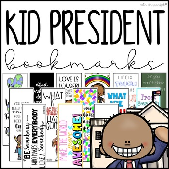 Kid President Motivational Quote Bookmarks