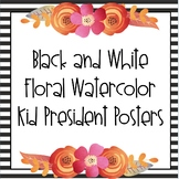 Kid President Quotes - Black & White Floral Watercolor