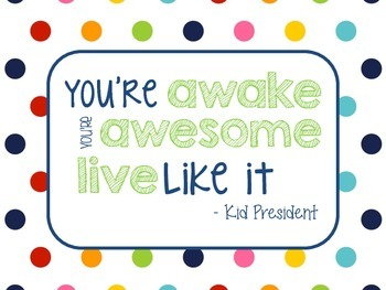 Kid President Quotes-Rainbow Stripe