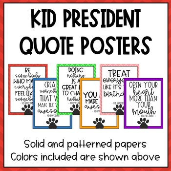 Kid President Quotes (Colorful Pawprint)