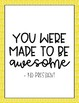 Kid President Quotes - Yellow/Blue/Green