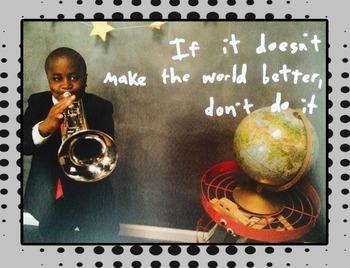 Kid President Themed Poster--Make the world better