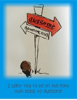 Kid President Themed Poster--Path to Awesome