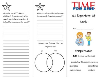 Kid Reporters At Work Trifold - Treasures 4th Grade Unit 3 Week 3 (2009)