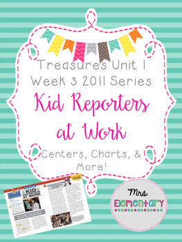Kid Reporters at Work Centers and Charts