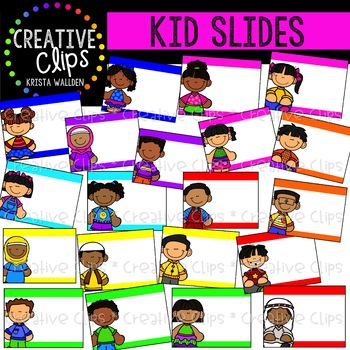 Kid Slides: Quick Templates {Creative Clips Clipart}