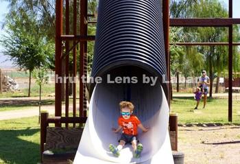 Kid Sliding Stock Photo #88