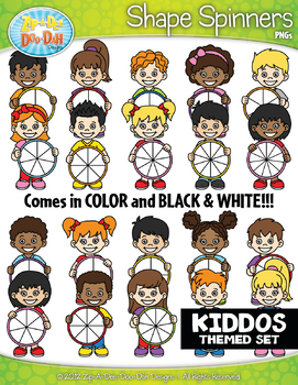 Kids Spinner Shapes Clipart {Zip-A-Dee-Doo-Dah Designs}