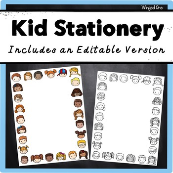 Kid Stationery {Editable}