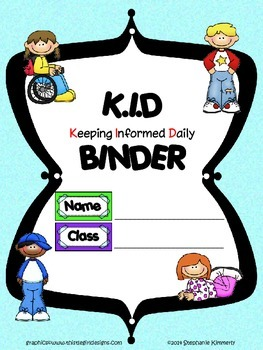 Kid {Student} Binder Cover